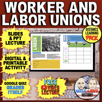 Workers and Labor Unions Activity Bundle