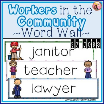 Workers in the Community Word Wall