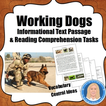 Working Dogs-Common Core Informational Text,Context Clues,