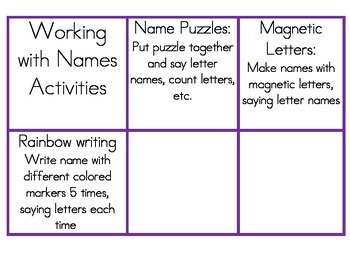 Working With Names Task Cards