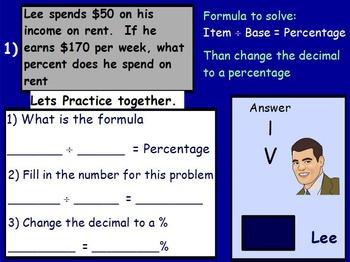 Using Percents - Working a Budget Mathematics (worksheet i