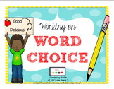 Working on Word Choice {6+1 Writing Trait}