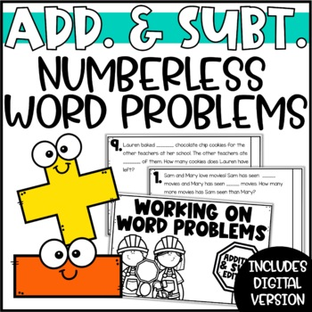Working on Word Problems - Mixed One-Step Addition & Subtraction