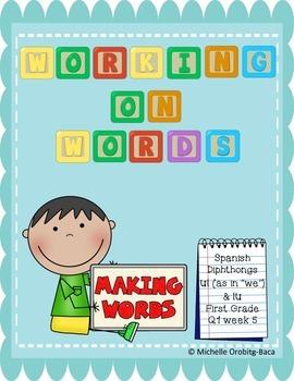 Working on Words: Spanish Diphthongs ui and iu
