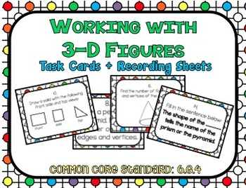 Working with 3-D Figures Task Cards