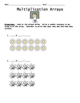 Working with Arrays (Multiplication Sentences)