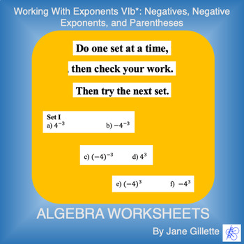 Working with Exponents VIb*