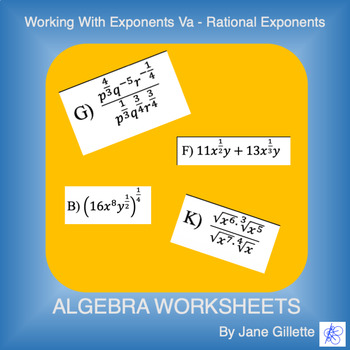 Working with Exponents Va - Rational Exponents