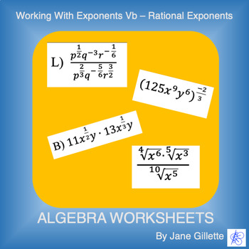 Working with Exponents Vb - Rational Exponents