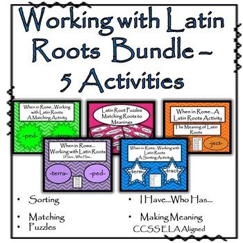 Latin Roots - Bundled (5 sets)