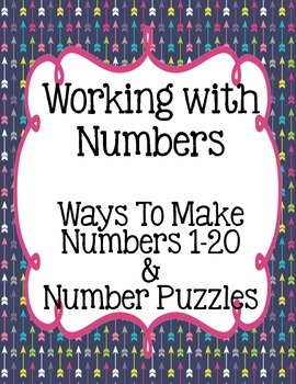 Working with Numbers:  Number Sense