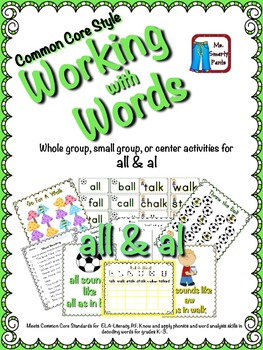 Working with Words Phonics  Sounds of al and all Common Co