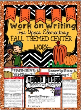Work on Writing BUNDLE: Upper Elementary (Fall, Halloween,