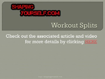 Workout Splits, Workout Templates, Weight Training