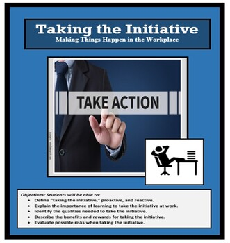 """Employment, """"TAKING THE INITIATIVE,"""" Career Readiness, Voc"""