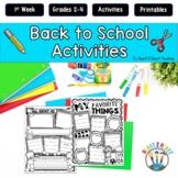 Back to School Activities-Interest Inventory Math & ELA, M