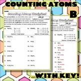 Worksheet: Counting Atoms Version B