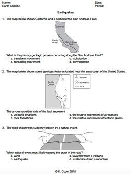 Worksheet - Earthquakes *EDITABLE*