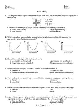 Worksheet - Permeability *EDITABLE*