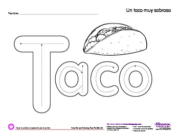 Worksheet: Taco (Cinco de mayo)