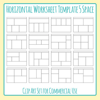 Worksheet Templates Daily Five Horizontal Five Space Layou