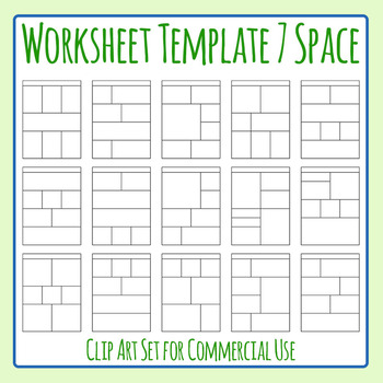 Worksheet Templates / Layouts Seven Space / 7 Section Clip