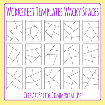 Worksheet Templates / Layouts Wacky Spaces Clip Art Pack f