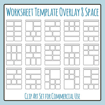 Worksheet Templates Overlays 8 Space Clip Art Pack for Com
