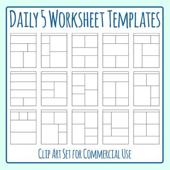 Worksheet Templates Worksheet Templates / Layouts Five Spa