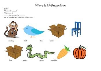 Worksheet- Where is it?