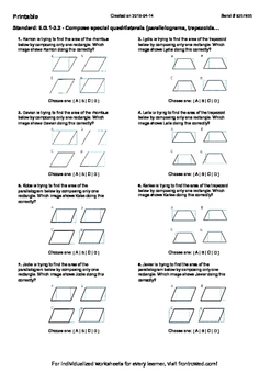 Worksheet for 6.G.1-3.2 - Compose special quadrilaterals (