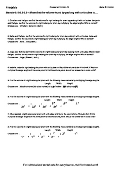 Worksheet for 6.G.2-2.0 - Show that the volume found by pa