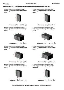 Worksheet for 6.G.2-2.1 - Students must identify fractiona