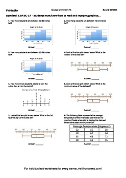 Worksheet for 6.SP.5C-2.1 - Students must know how to read