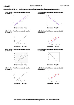 Worksheet for 8.SP.2-1.4 - Students must know how to use t