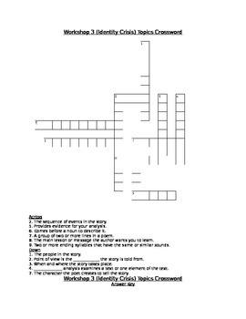 Workshop 3 (Identity Crisis) Comprehension & Topics Crossw