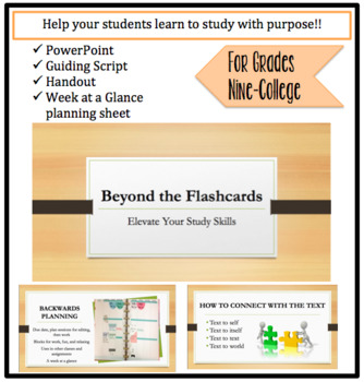 Workshop- Beyond The Flashcards: Expanding Your Study Skills