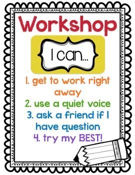 """Workshop """"I Can"""" Poster"""