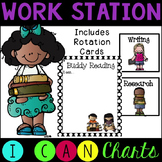 Editable!! Work Station I Can Charts and Rotation Pictures