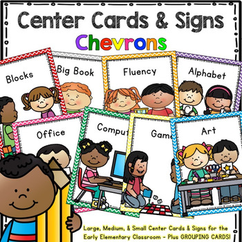 Workstation Rotation Signs and Cards (Chevron) – Programmable