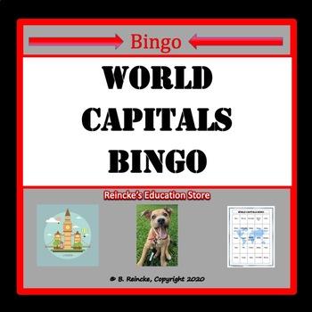 World Capitals Bingo (30 pre-made cards!)
