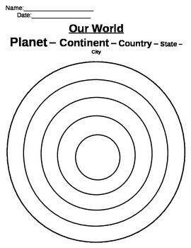 World Circles Geography Activity