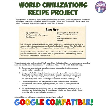 World Civilization Recipe Project