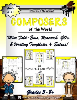 World Composers Mini Research Fold-Ems and Activities