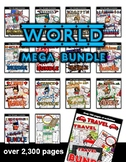 World Countries Themed Activities BUNDLE! ( 250+ pages)