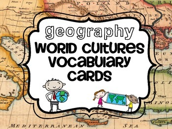 World Cultures Vocabulary Cards