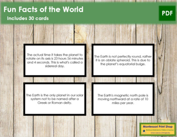 World Fun Facts (color borders)