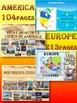 Continents BUNDLE - America -  Europe - Asia - Africa - Au