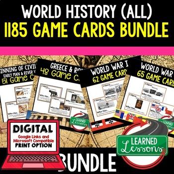 World History 1185 Game Cards BUNDLE
