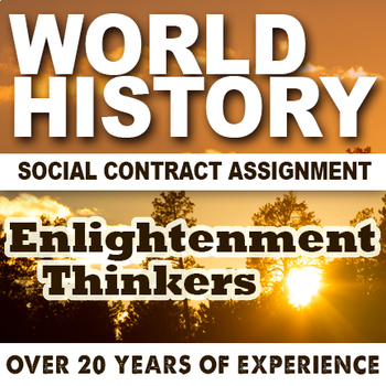 Social Contract / Enlightenment Lesson World History
